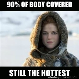 Ygritte - 90% of body covered STILL THE HOTTEST