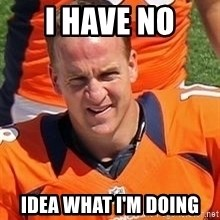 Peyton Manning 2 - I have No idea what i'm doing
