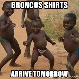 african children dancing - Broncos shirts Arrive tomorrow