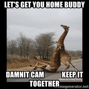 Trust Fall Giraffes - Let's Get you home buddy damnit Cam             keep it together