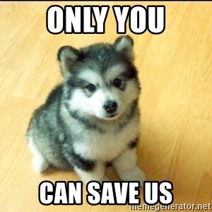 Baby Courage Wolf - Only you can save us