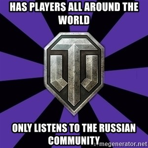 World of Tanks - has players all around the world only listens to the russian community