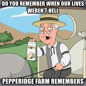 Pepperidge Farm Remembers Meme - Do you remember when our lives weren't hell Pepperidge farm remembers