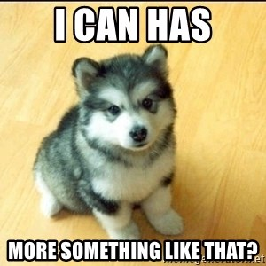 Baby Courage Wolf - i can has more something like that?