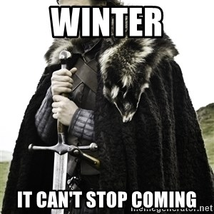 Ned Stark - winter it can't stop coming