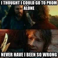 Never Have I Been So Wrong - I thought I could go to prom alone never have i been so wrong