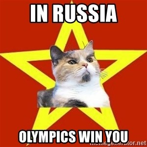 Lenin Cat Red - In Russia olympics win you