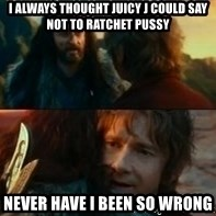 Never Have I Been So Wrong - i always thought juicy j could say not to ratchet pussy never have i been so wrong