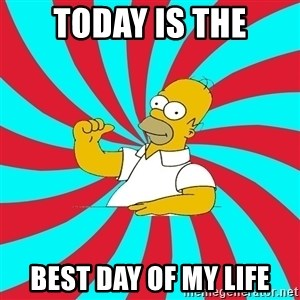 Frases Homero Simpson - Today is the best day of my life