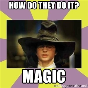 Harry Potter Sorting Hat - How do they do it? Magic