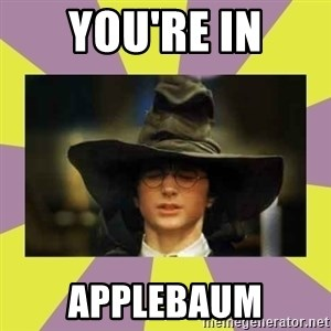 Harry Potter Sorting Hat - You're in applebaum