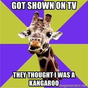 Photoshop Artist Giraffe - Got shown on tv they THOUGHT i was a kangaroo