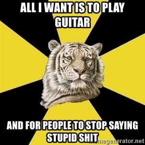 Wise Tiger - All I Want Is To Play Guitar and for people to stop saying stupid shit