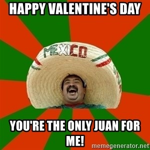 Successful Mexican - Happy Valentine's Day   You're the only Juan for me!