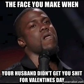 kevin hart playoffs - The face you make when Your husband didn't get you shit for Valentines day