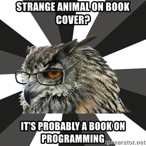 ITCS Owl - Strange animal on book cover? it's probably a book on programming