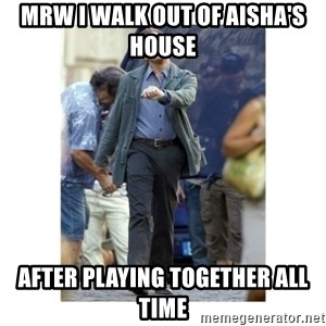 Leonardo DiCaprio Walking - mrw i walk out of aisha's house after playing together all time