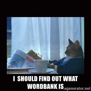 i should buy a boat cat -  I  Should find out what wordbank is