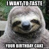 Sexual Sloth - I want to taste your birthday cake