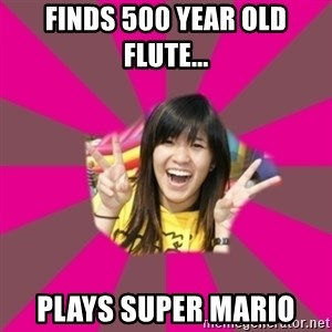 GOOD CHINESE STUDENT - Finds 500 year old flute... Plays super Mario