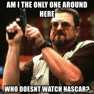 john goodman - am i the only one around here who doesnt watch nascar?