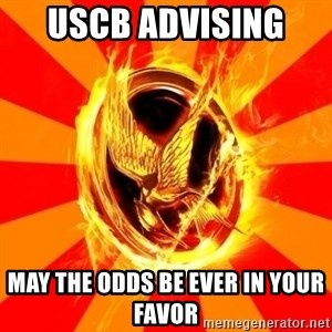 Typical fan of the hunger games - uscb aDVISING  May the odds be ever in your favor