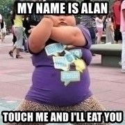 Fat Chinese kid dancing lol - my name is alan touch me and i'll eat you
