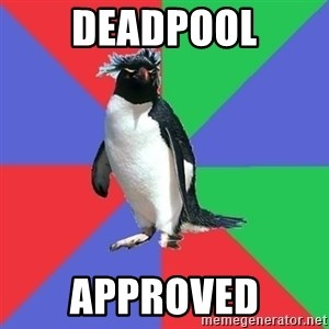 Comic Book Addict Penguin - Deadpool Approved