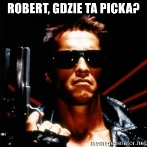 Arnold Schwarzenegger i will be back - robert, gdzie ta picka?