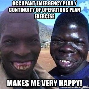 feo3 - Occupant Emergency Plan / Continuity of Operations Plan exercise  Makes me very happy!