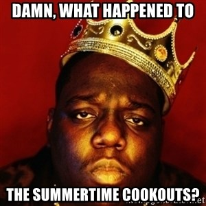 Biggie Smalls - Damn, what happened to  the summertime cookouts?