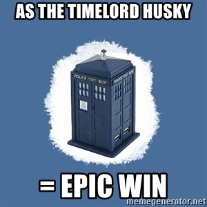 Dr Who - As the timelord husky = epic win