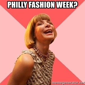 Amused Anna Wintour - philly Fashion Week?