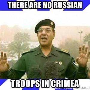 Comical Ali - There are no Russian troops in crimea