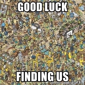 Where is waldo - Good luck finding us