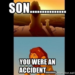 Lion King Shadowy Place - son............... you were an accident........