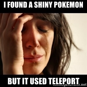 crying girl sad - i found a shiny pokemon but it used teleport