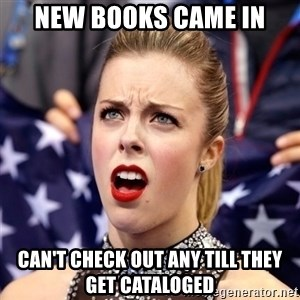 Ashley Wagner Shocker - New Books Came in Can't check out any till they get cataloged