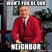 MR ROGERS HAPPY SWEATER - Won't you be our Neighbor