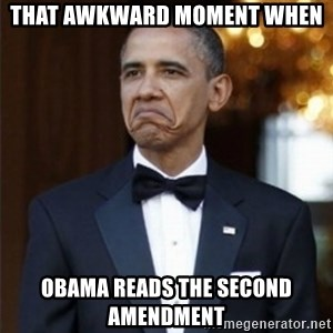 Not Bad Obama - That Awkward Moment when Obama reads the second amendment