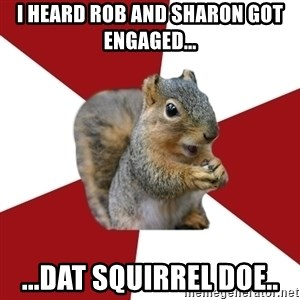 Temple Squirrel - i heard rob and sharon got engaged... ...dat squirrel doe..