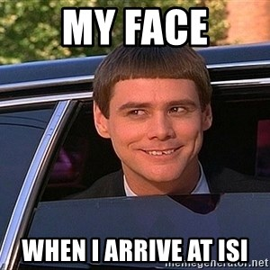 Jim Carey DUmb - My Face When I Arrive at ISI