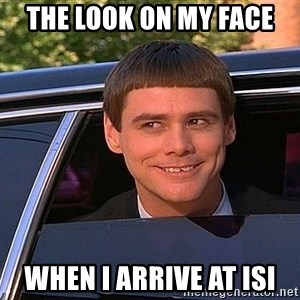 Jim Carey DUmb - The Look on My Face When I Arrive at ISI