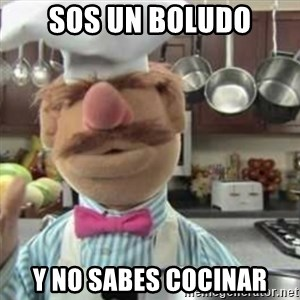 swedish chef - sos un boludo y no sabes cocinar