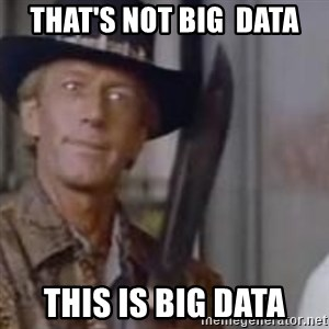 Crocodile Dundee - that's not big  data this is big data