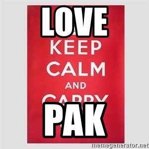 Keep Calm - love Pak