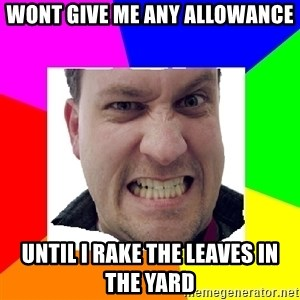 Asshole Father - wont give me any allowance until i rake the leaves in the yard