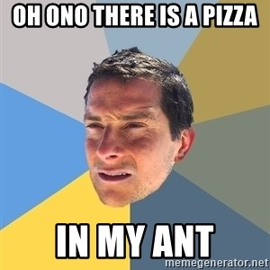 Bear Grylls - Oh ono there is a pizza in my ant