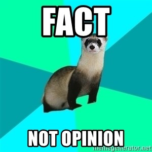Obvious Question Ferret - Fact not opinion