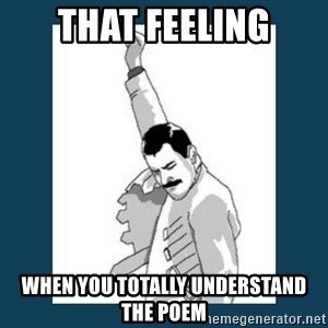 Freddy Mercury - That feeling WHEN YOU totally Understand the Poem
